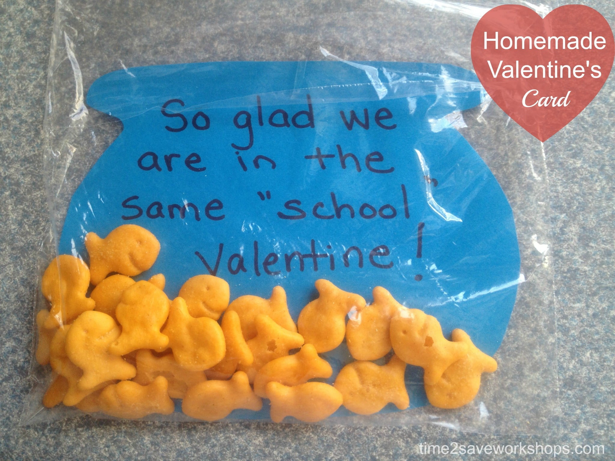 Homemade Valentine Cards DIY Goldfish Valentines Day Greetings – How to Make Valentine Cards for School