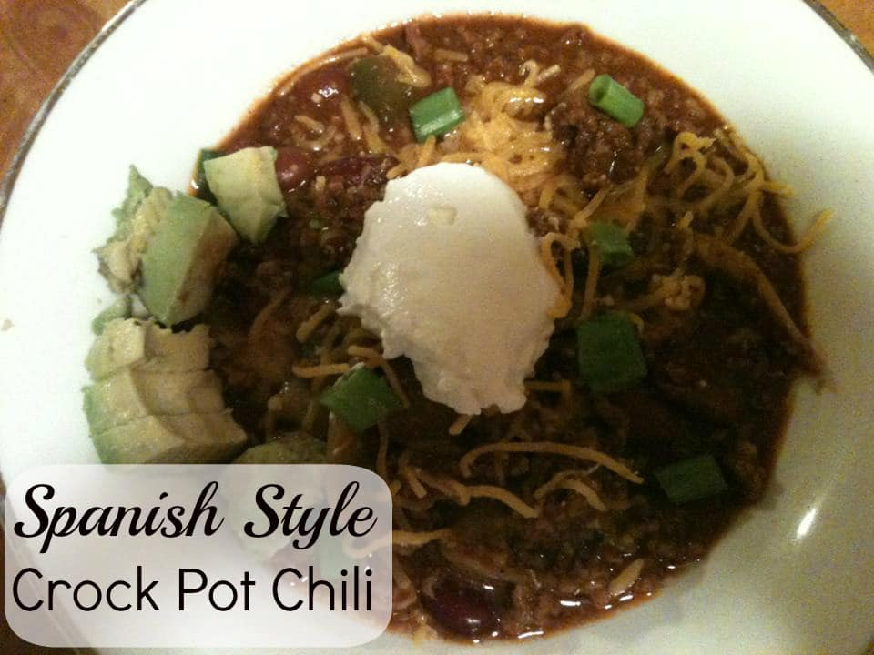 Spanish Style Crock pot chili