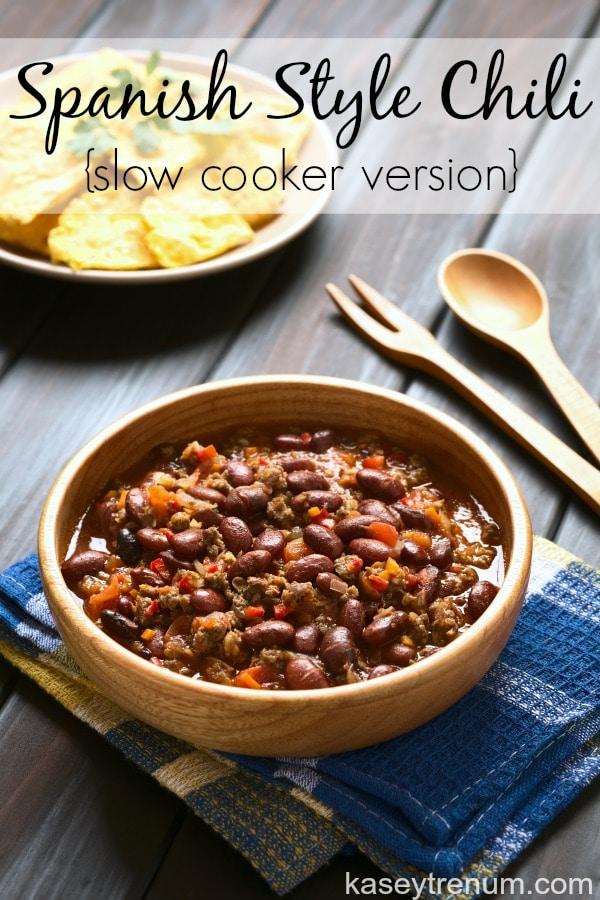 Spanish Style crock pot chili recipes: spanish style chili - kasey trenum