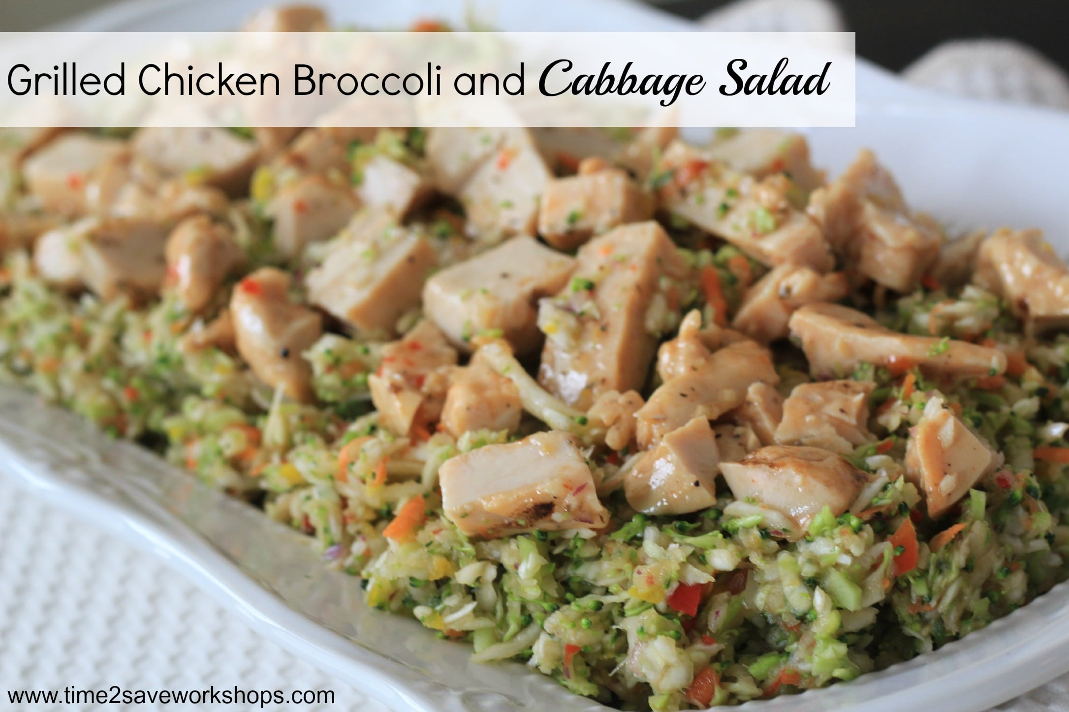 Grilled Chicken Broccoli & Cabbage Salad