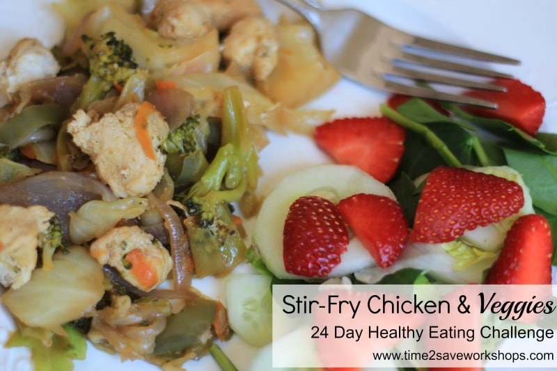 stir fry chicken and veggies