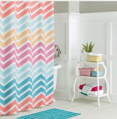 Kohl's: Chevron Stripe Shower Curtain $8, Bath Rug $5.60, Bath