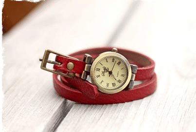 vintage-wrap-watch-red