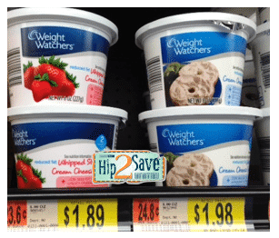 weight watchers cream cheese