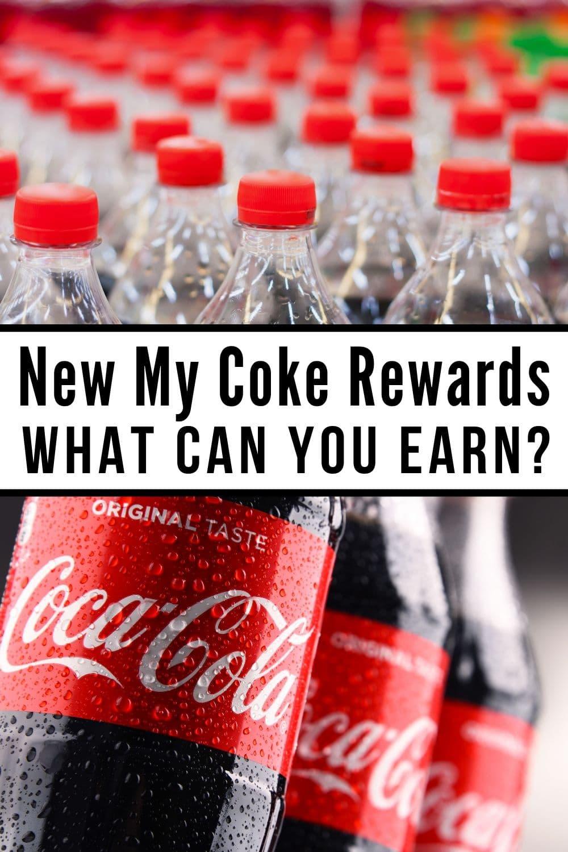 collage of coke bottles for the new my coke rewards program