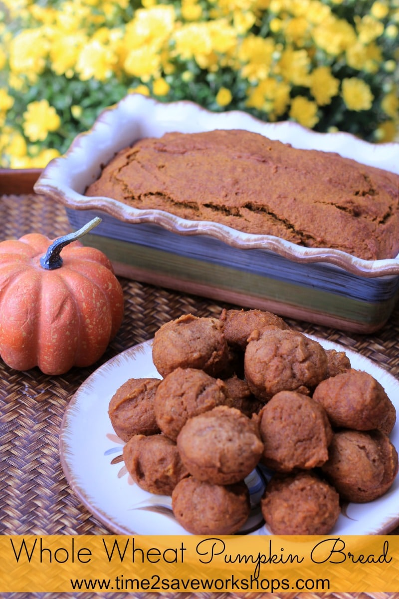 Homemade Whole Wheat Pumpkin Bread & Mini Muffins