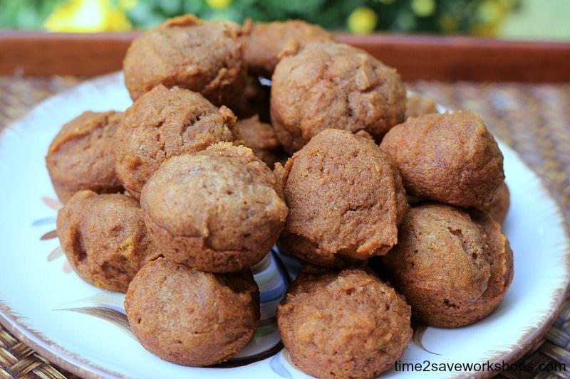 whole wheat pumpkin muffins on time2saveworkshops.com