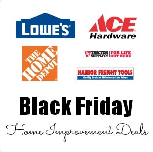 Black Friday Home Improvement Deals on time2saveworkshops.com