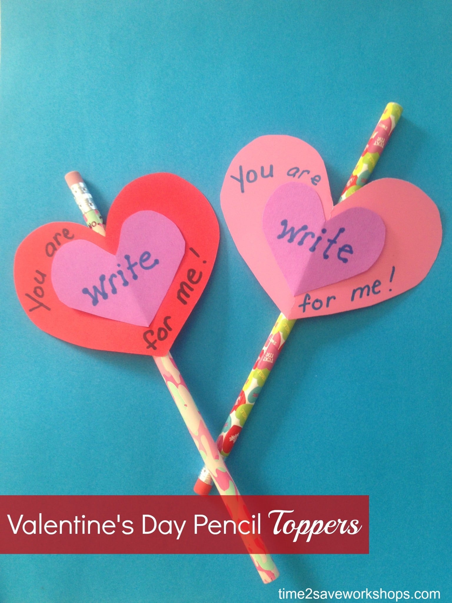 Homemade Valentine Ideas: DIY Valentine's Day Pencil Toppers ...