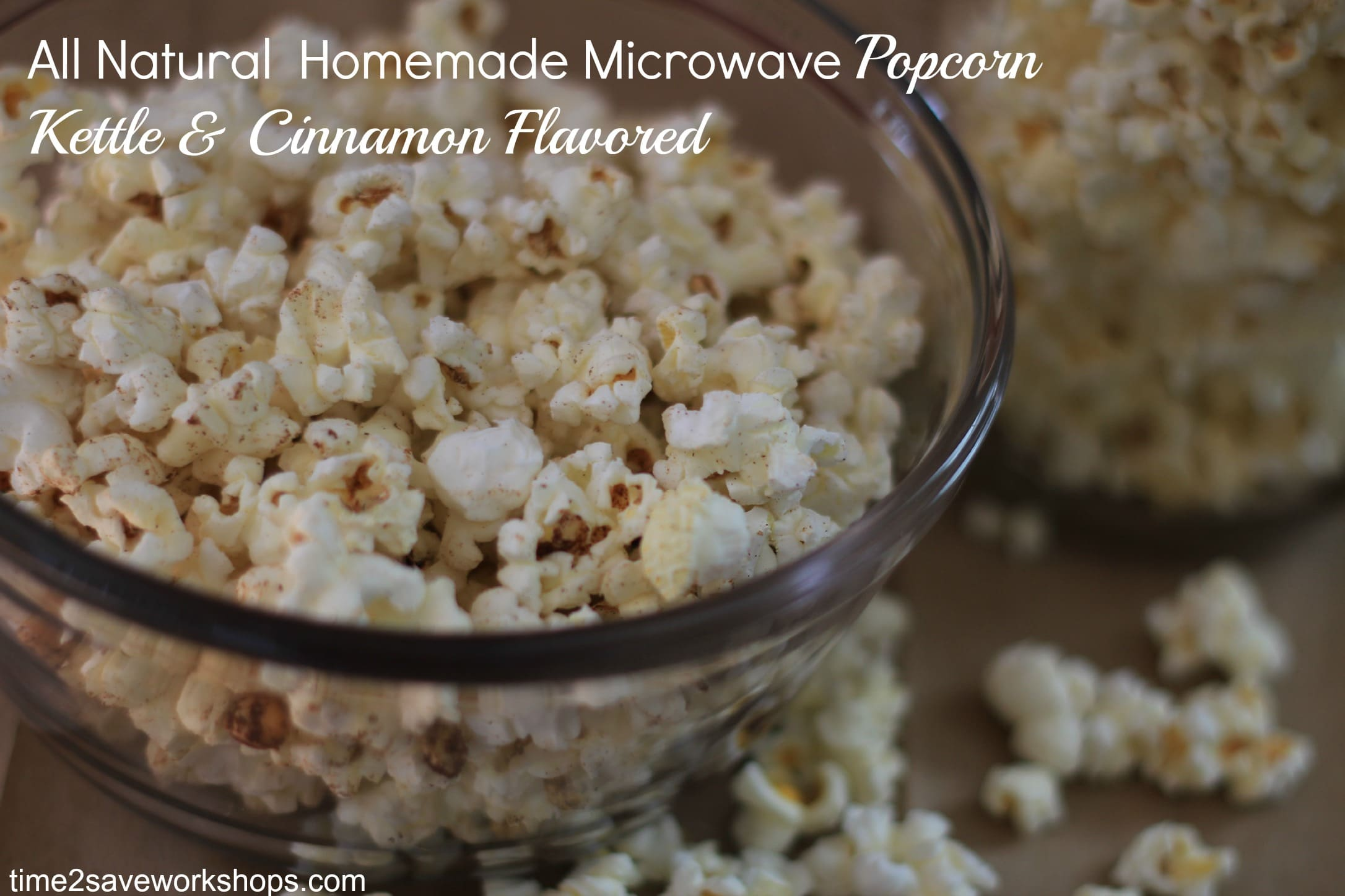 Homemade Microwave Popcorn:  All Natural Healthy Snack Idea