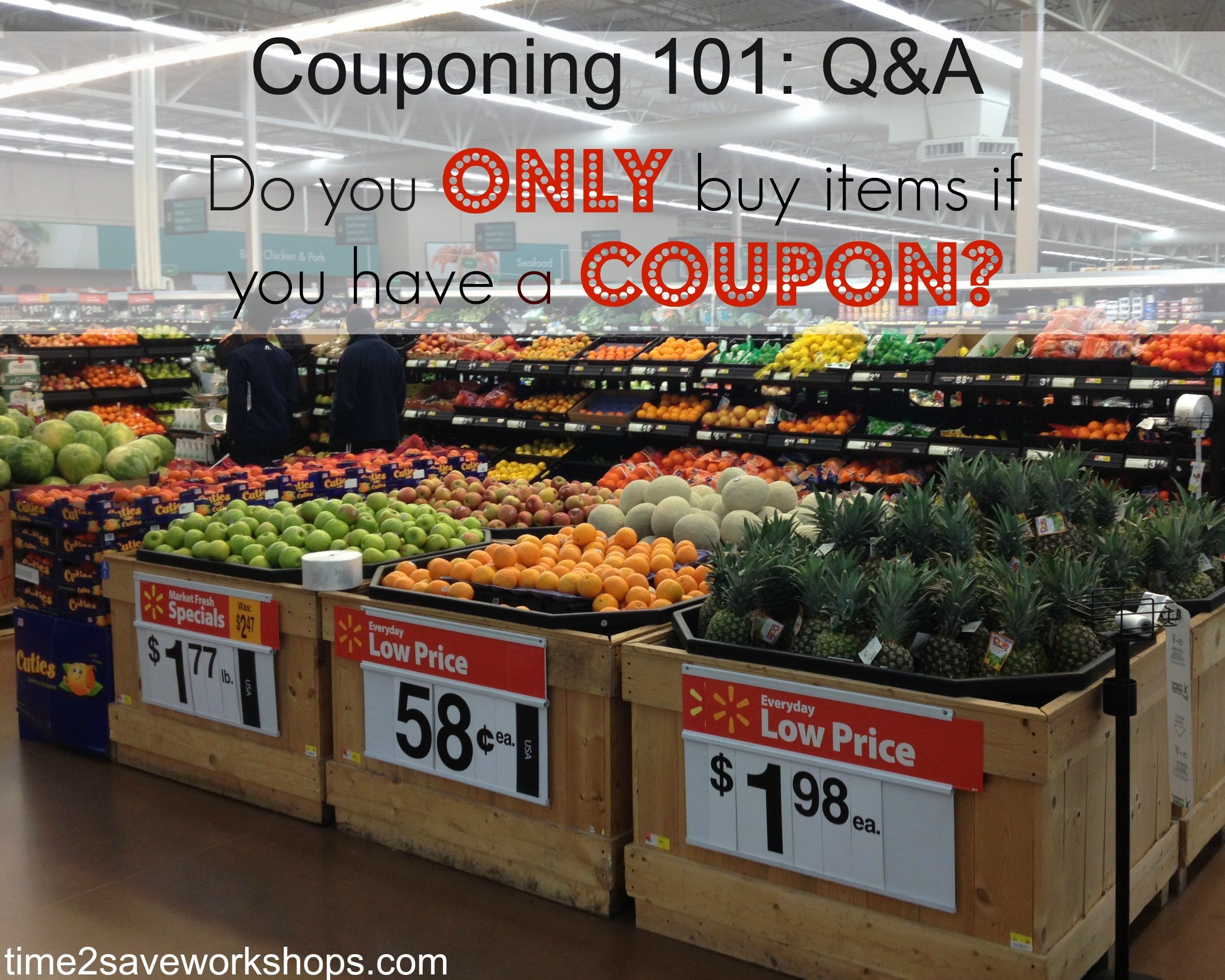 couponing 101 q&a