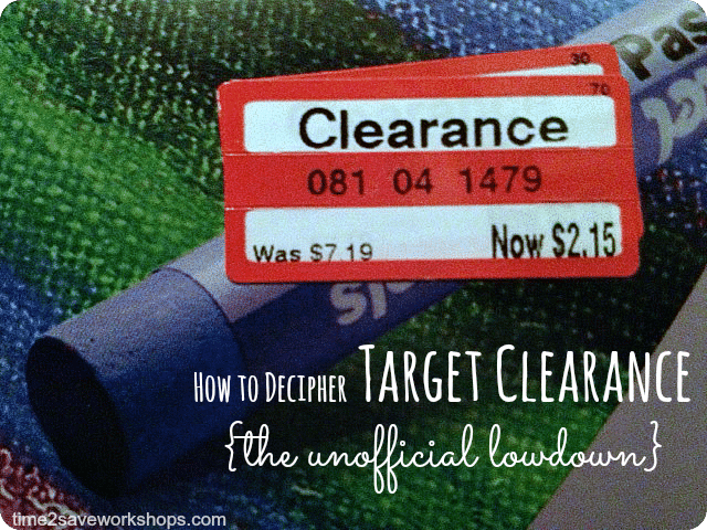 Saving Money Tips on Target Clearance at time2saveworkshops.com