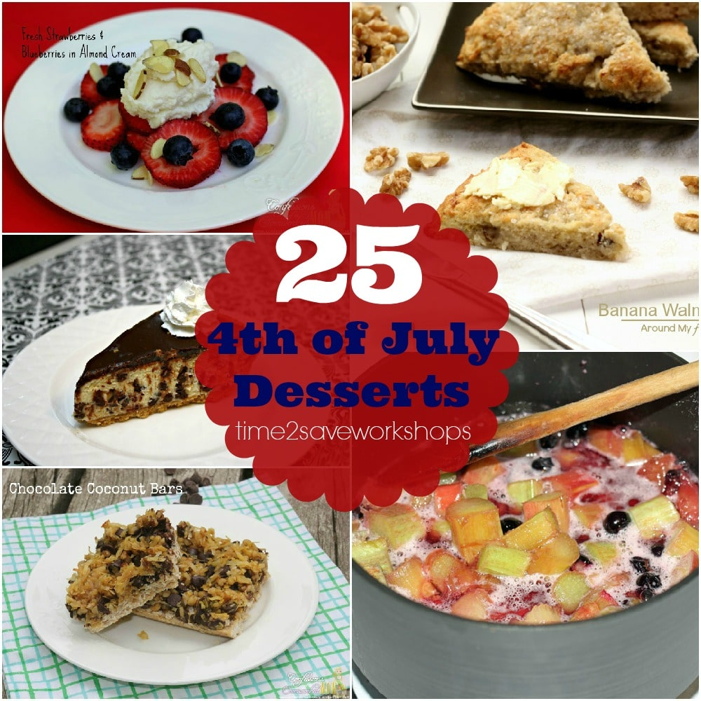 4th of July Desserts : 25 Recipe Ideas on time2saveworkshops.com