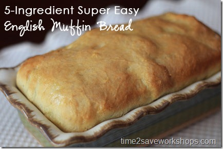 5 ingredient homemade english muffin bread