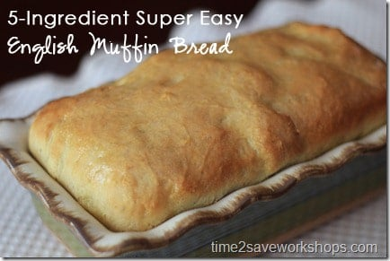 5 Ingredient Super Easy Homemade English Muffin Bread