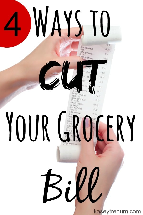 4 ways to cut your grocery bill