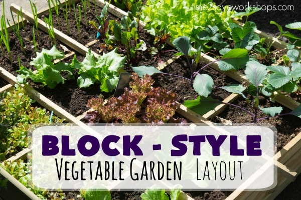 vegetable garden layout option block style gardening