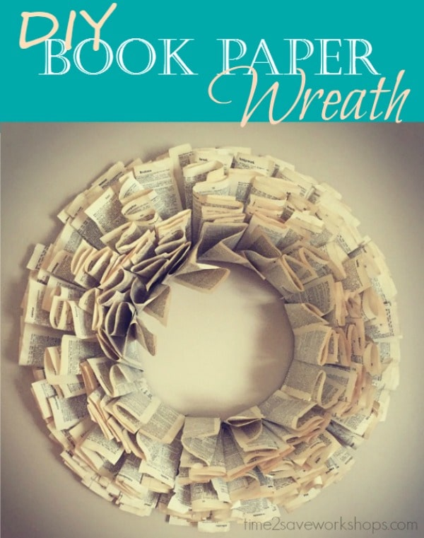 book-paper-wreath