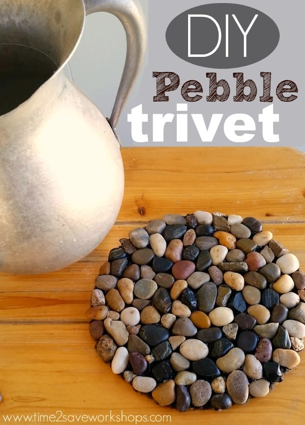 Diy Pebble Trivet Kasey Trenum