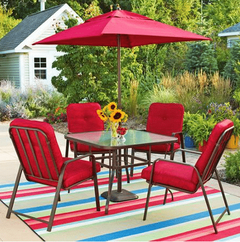 Luxury walmart patioset