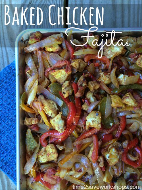 easy baked chicken fajitas