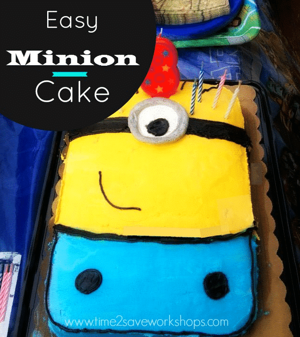 Easy Minion Birthday Cake No Special Pan Needed! - Kasey ...