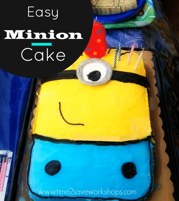 Easy Minion Birthday Cake No Special Pan Needed Kasey Trenum