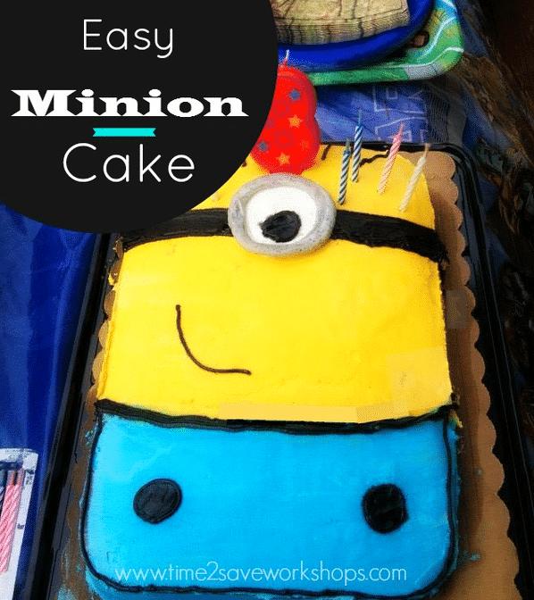 Easy Minion Birthday Cake No Special Pan Needed Kasey