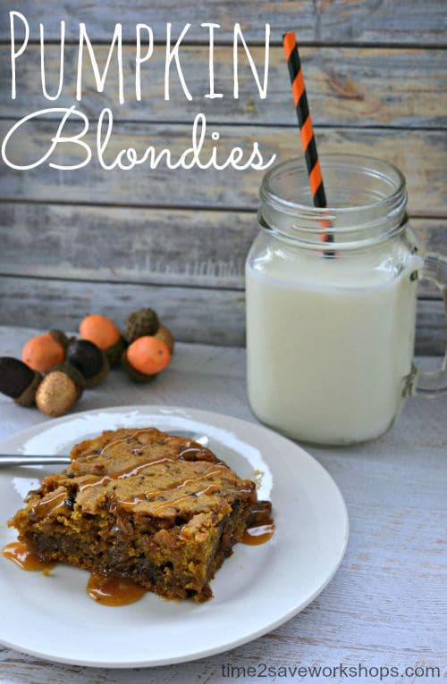 Loaded Pumpkin Blondies