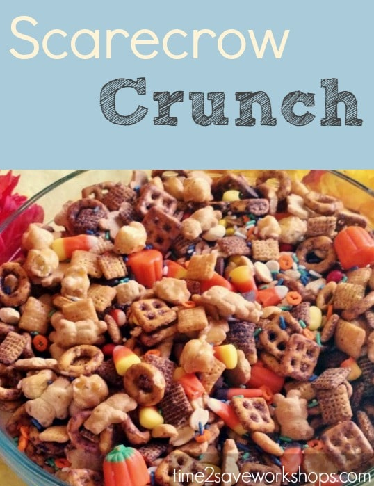 Scarecrow Crunch Recipe (Festive fall treat!!)