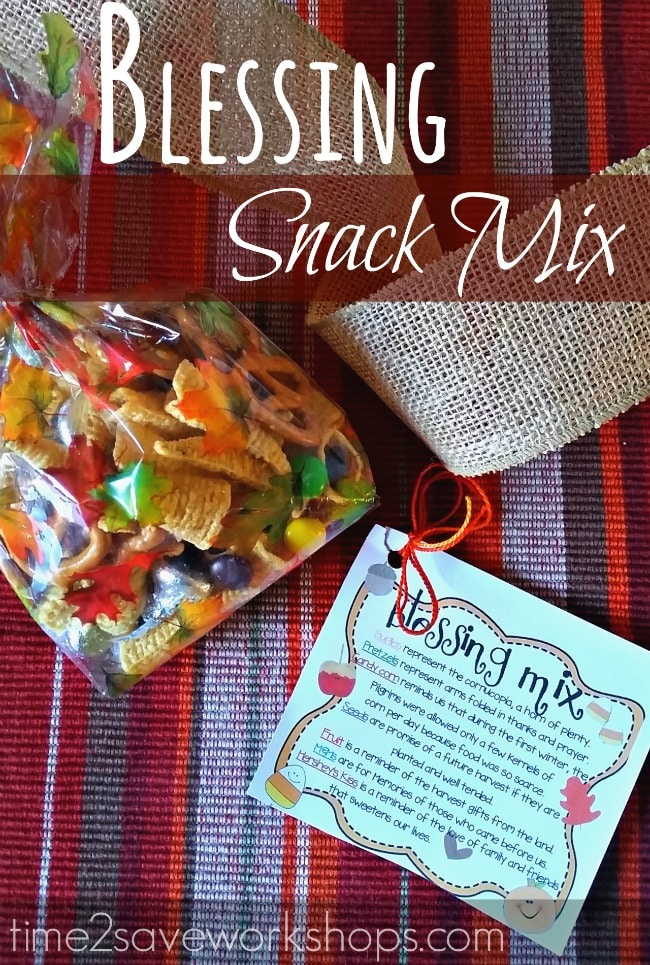 Thanksgiving Blessing Snack Mix and Printable