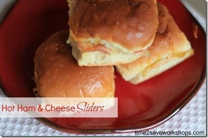 hot ham and cheese sliders