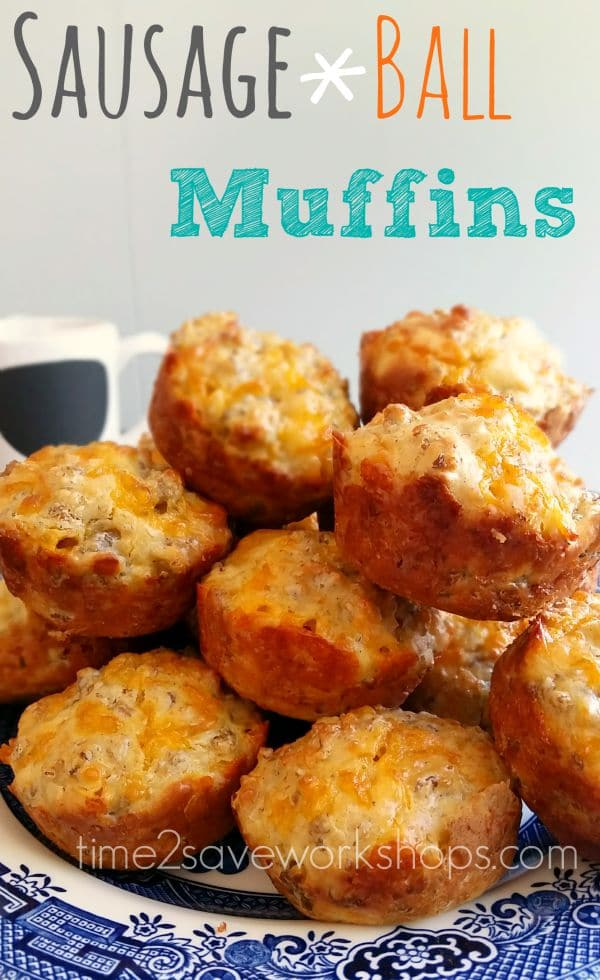 Sausage Ball Muffins Recipe #SaveaLotInsiders