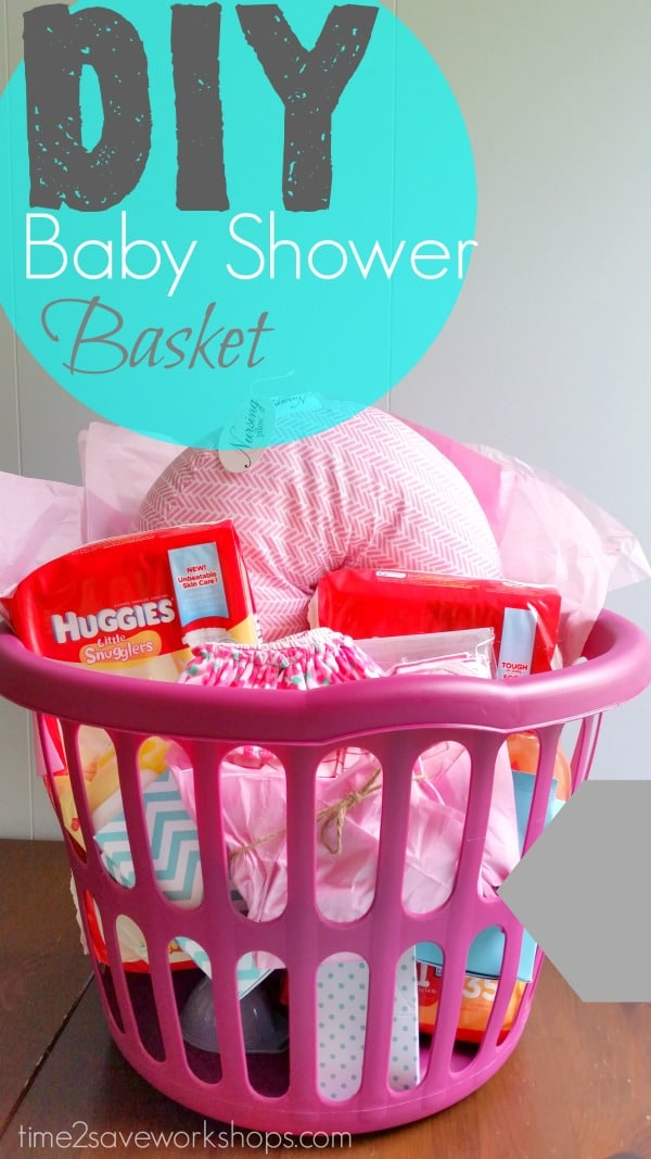 Baby Gift Ideas Myer : Diy baby shower gift basket on a shoestring kasey trenum