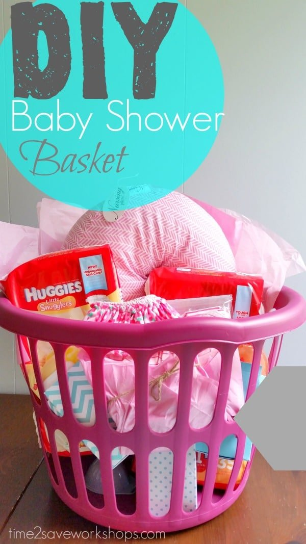 diy baby shower gift basket {on a shoestring}  kasey trenum, Baby shower