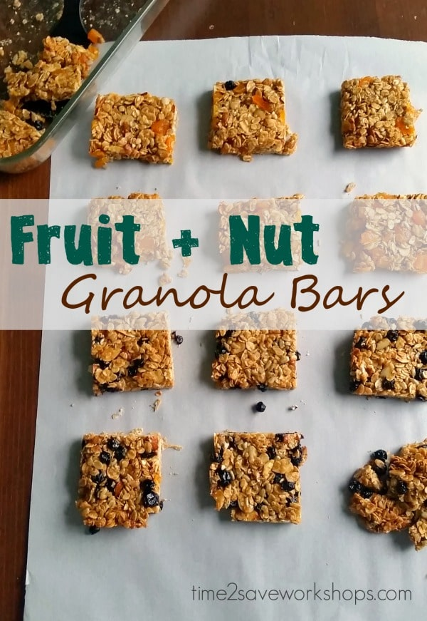 Homemade Granola Bars Recipe w/ Fruit & Nuts