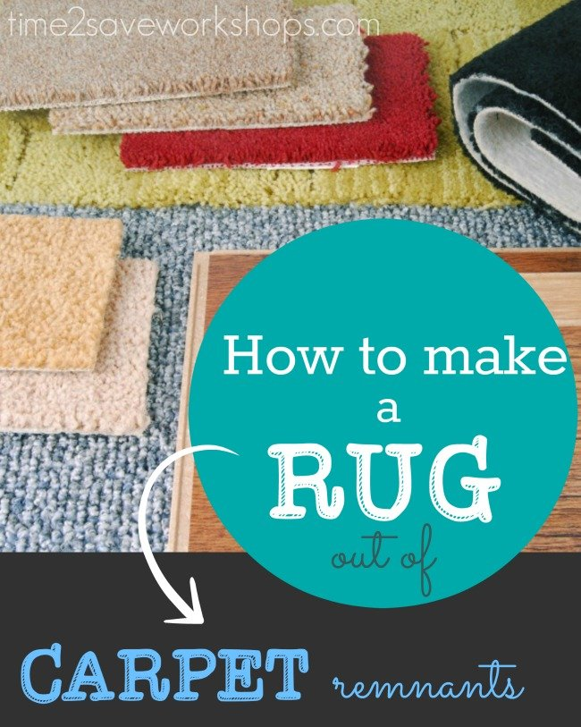 how to make a rug out of carpet remnant