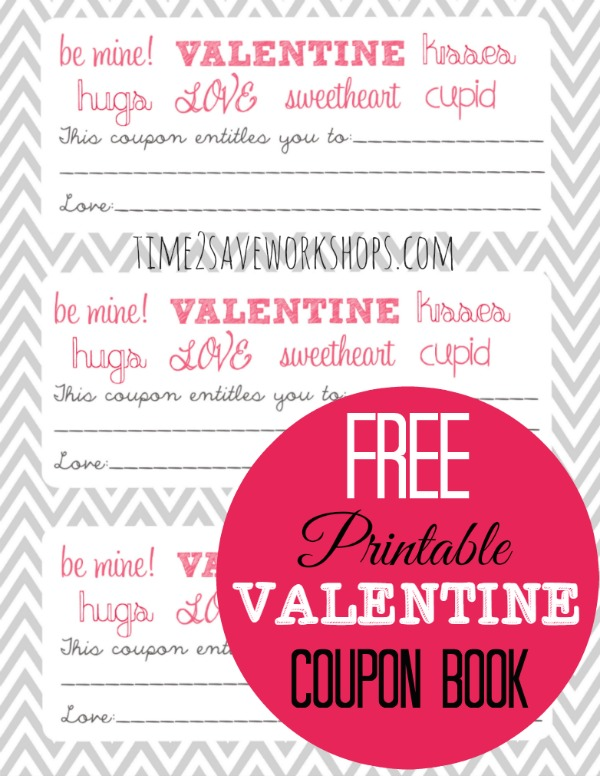 Free ValentineS Printable Coupon Booklet  Kasey Trenum