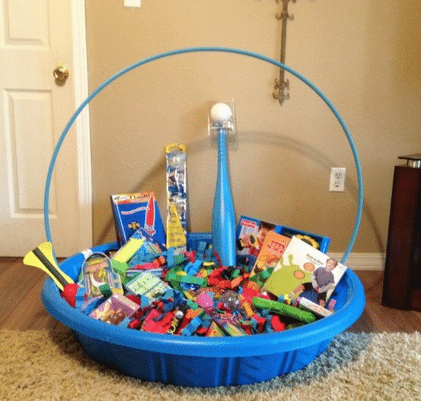 13 themed gift basket ideas for women men families kasey trenum swimming pool gift basket negle Image collections