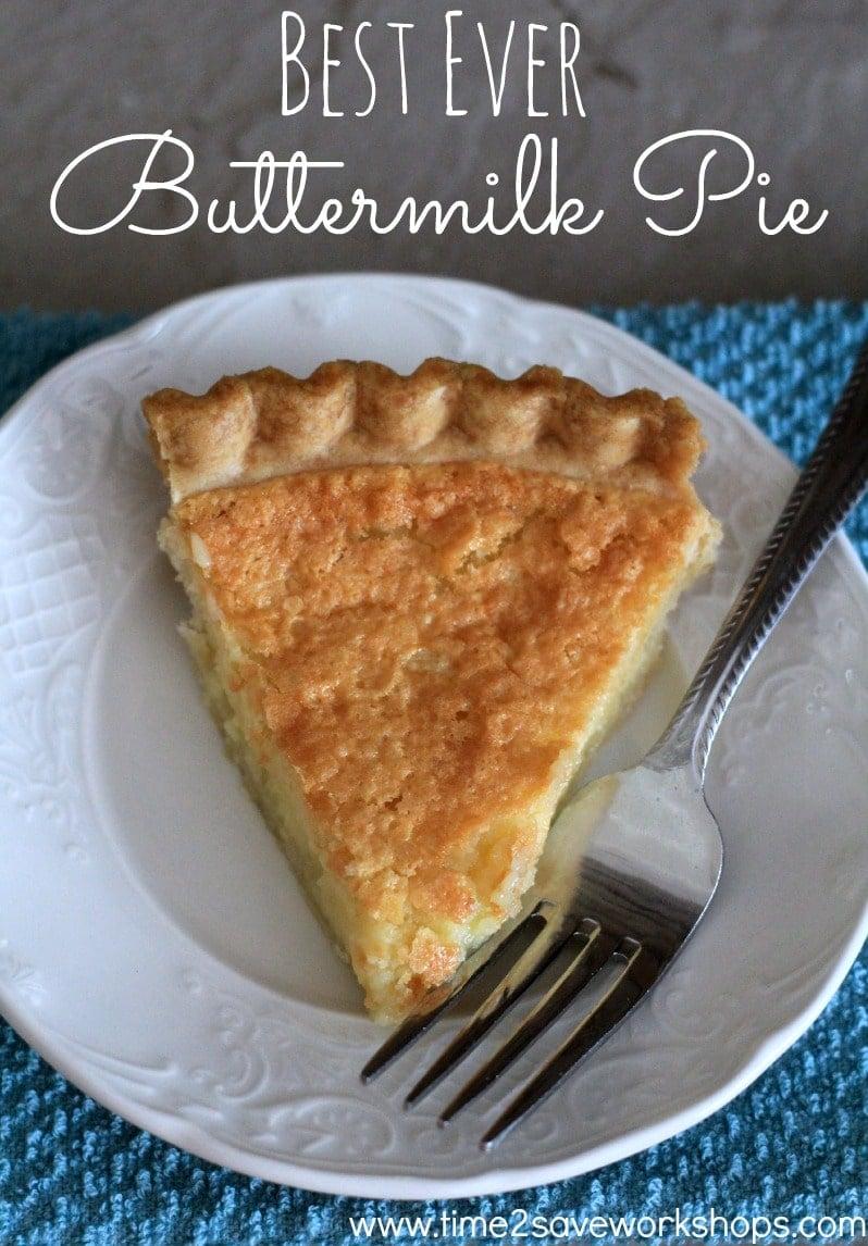 Best Buttermilk Pie Recipe