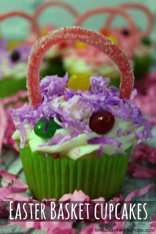 easter basket cupcake recipe