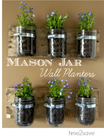 mason-jar-wall-planter