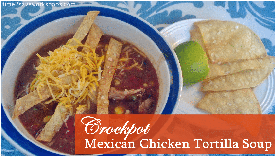 Crockpot Mexican Chicken Tortilla Soup Recipe