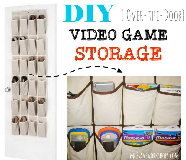 Organize Video Games With Hanging Shoe Organizers!