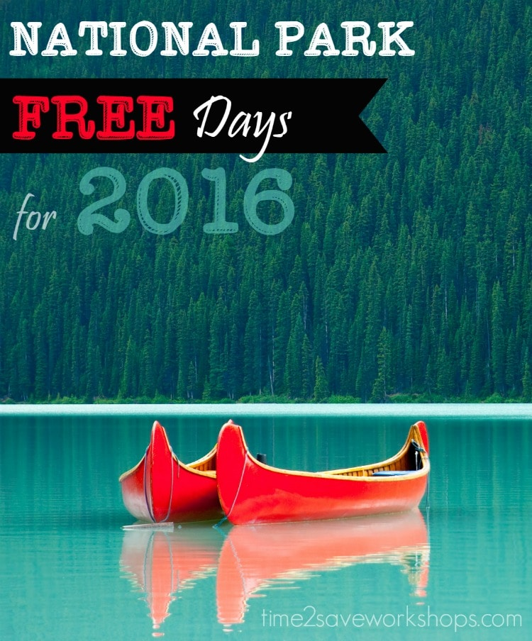 16 National Park Free Days for 2016!