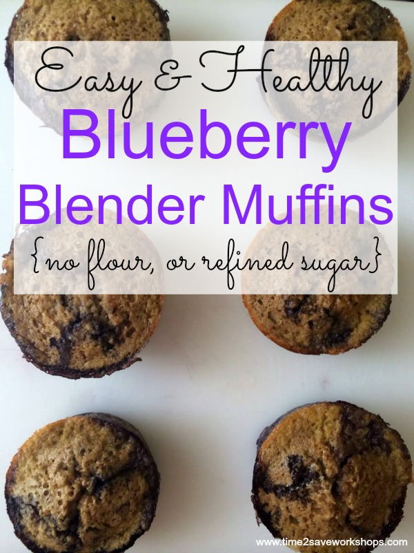 Blueberry Blender Muffins {contains no flour, or refined sugar}