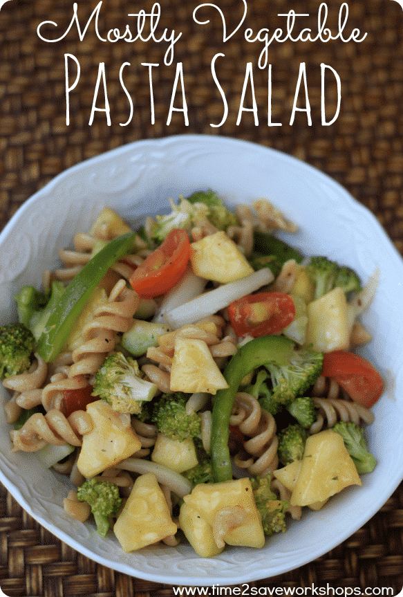Pasta Salad Recipe {Tons of Fresh Vegetables}