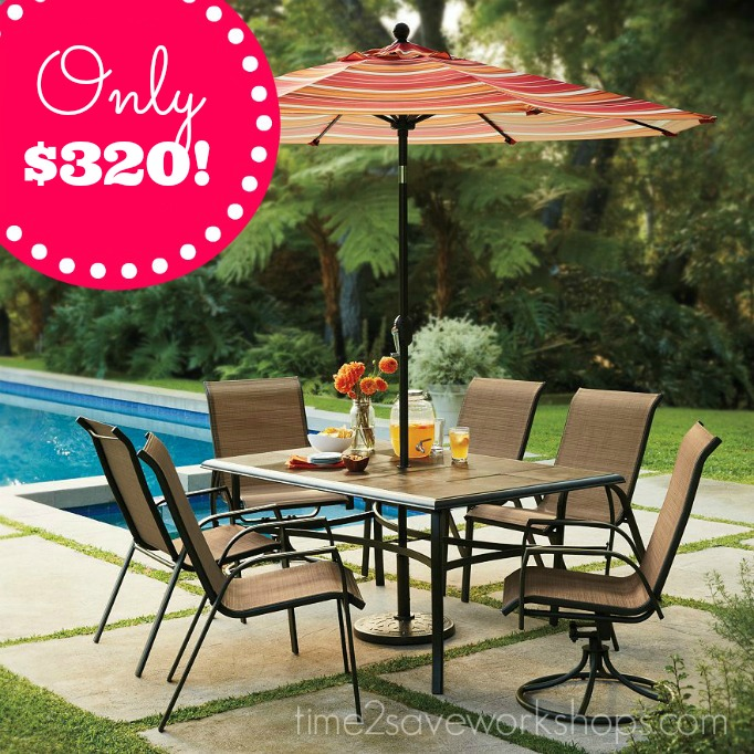 I can't believe just HOW low this patio set drops after code, Kohl's Cash  and Rewards Points!! You'll end up getting this set of 4 stackable chairs,  ... - Kohl's SONOMA Patio Furniture Set Almost 70% OFF!! - Kasey Trenum