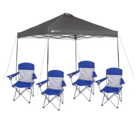 Ozark Trail 12×12 Canopy and 4 Chairs ONLY $64!