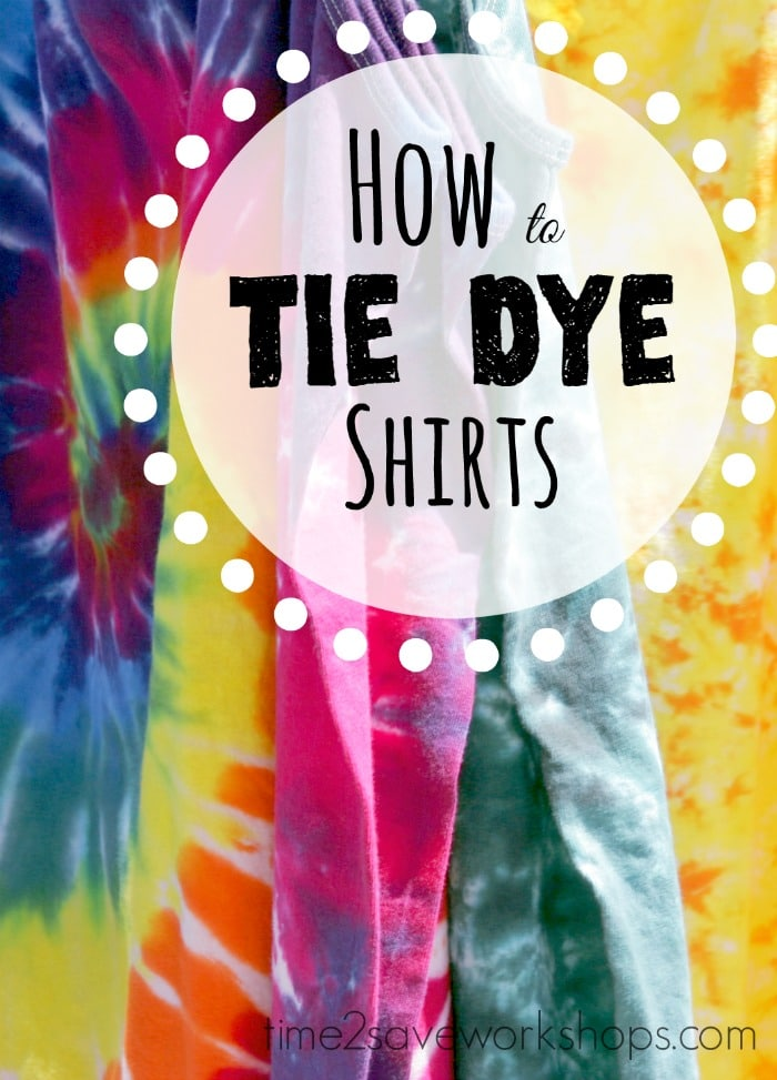 how to make tie dye shirts kits